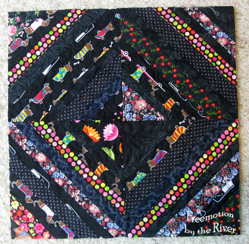 Rainbow Scrap Challenge black block