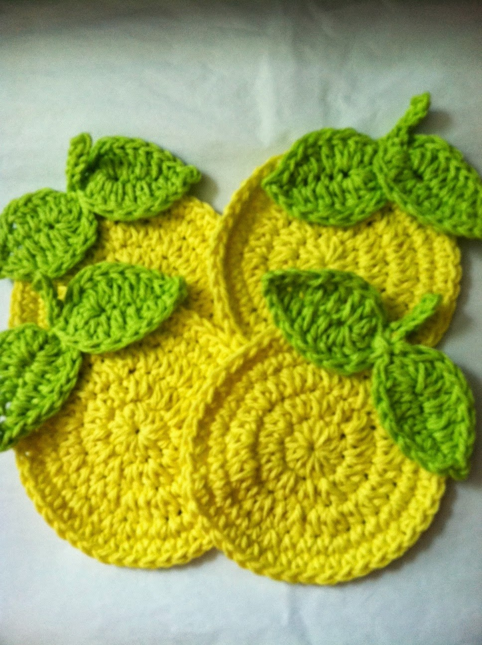 Free Crochet Pattern For Coaster : Lakeview Cottage Kids: Having So Much Fun Making Citrus ...