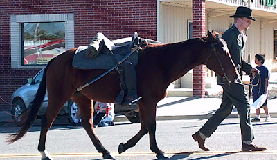 What we did for Veteran's Day.  The Riderless Horse.