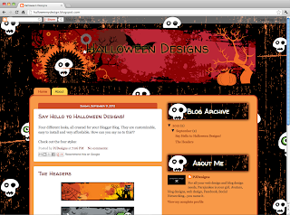 RedRum New Templates: Halloween Templates Book Blogger Design