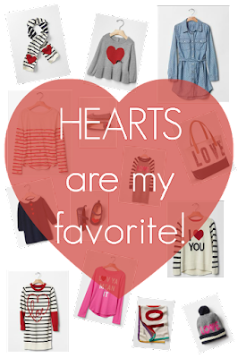 While I'm Waiting...Hearts are my favorite!  Valentine fashion from Gap