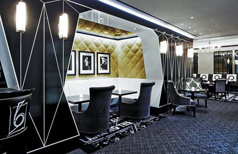 Decor - Bar Pleisades - black, white and yellow