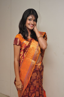 Model krupali in silk saree at cmr ashadam event 003.jpg