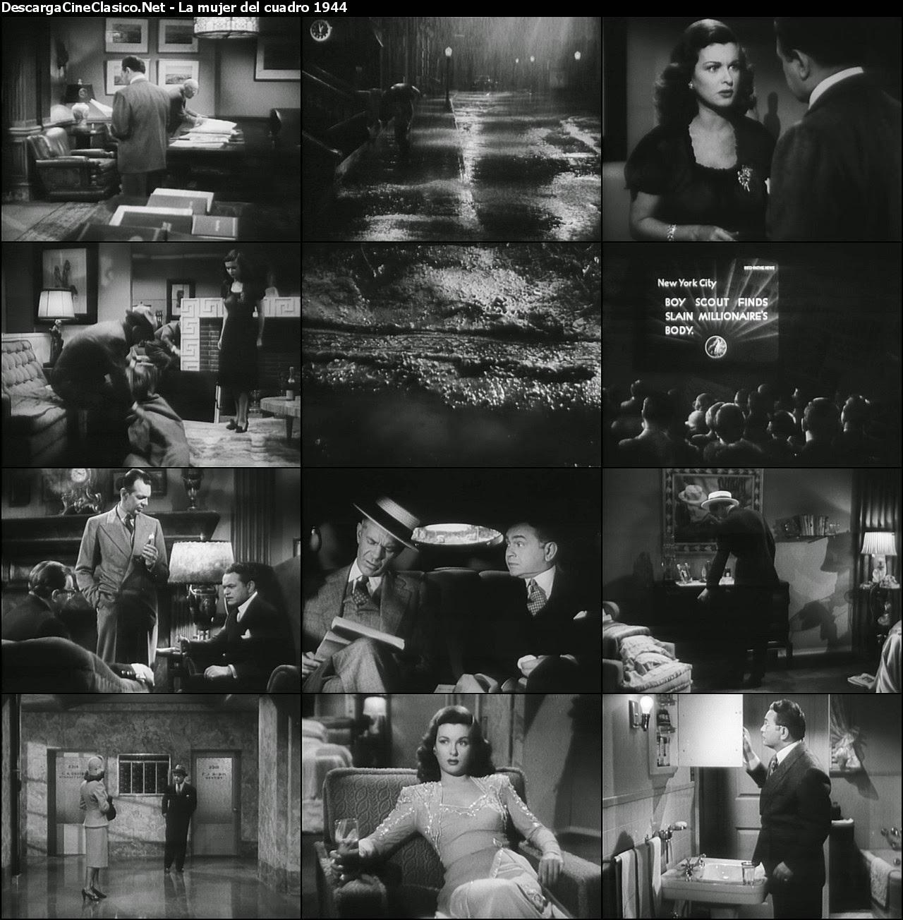 La mujer del cuadro (1944 - The Woman in the Window) Capturas - cine clasico