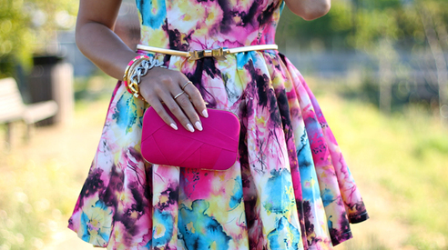 Wearing a Floral Dress For