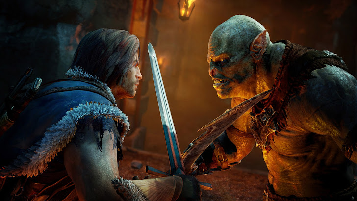Talion vs Orc Shadow of Mordor