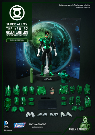"Play Imaginative 1/6 Scale Super Alloy DC Comics New 52 Green Lantern 12"" Figure - Exclusive Version"