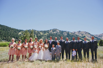 Light pink, grey, and navy bridal party l Gatekeeper's Museum Tahoe l Sun + Life Photo l Johnny B Video l Take the Cake Event Planning