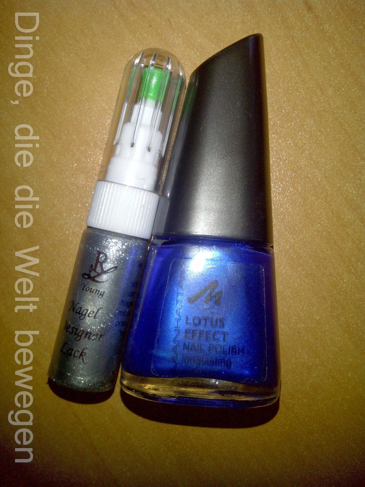 Blau-silberne Nägel - Ein schönes Duo - Dinge, die die Welt bewegen