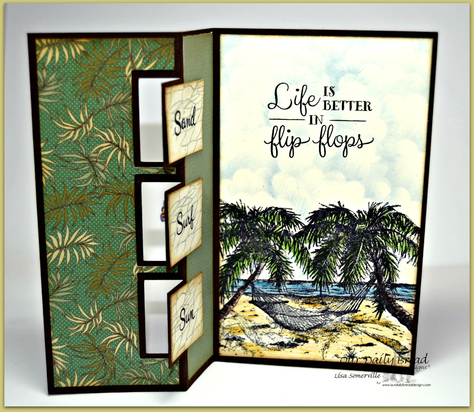 Stamps - Our Daily Bread Designs Happy Retirement, Fishing Net Background, Flip Flop Fun, Life is Better, ODBD Custom Flip Flops Die, ODBD Custom Ornamental Crosses Die