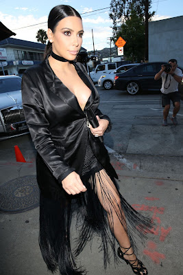 Kim Kardashian Style – Craig's Restaurant in West Hollywood, July 2015