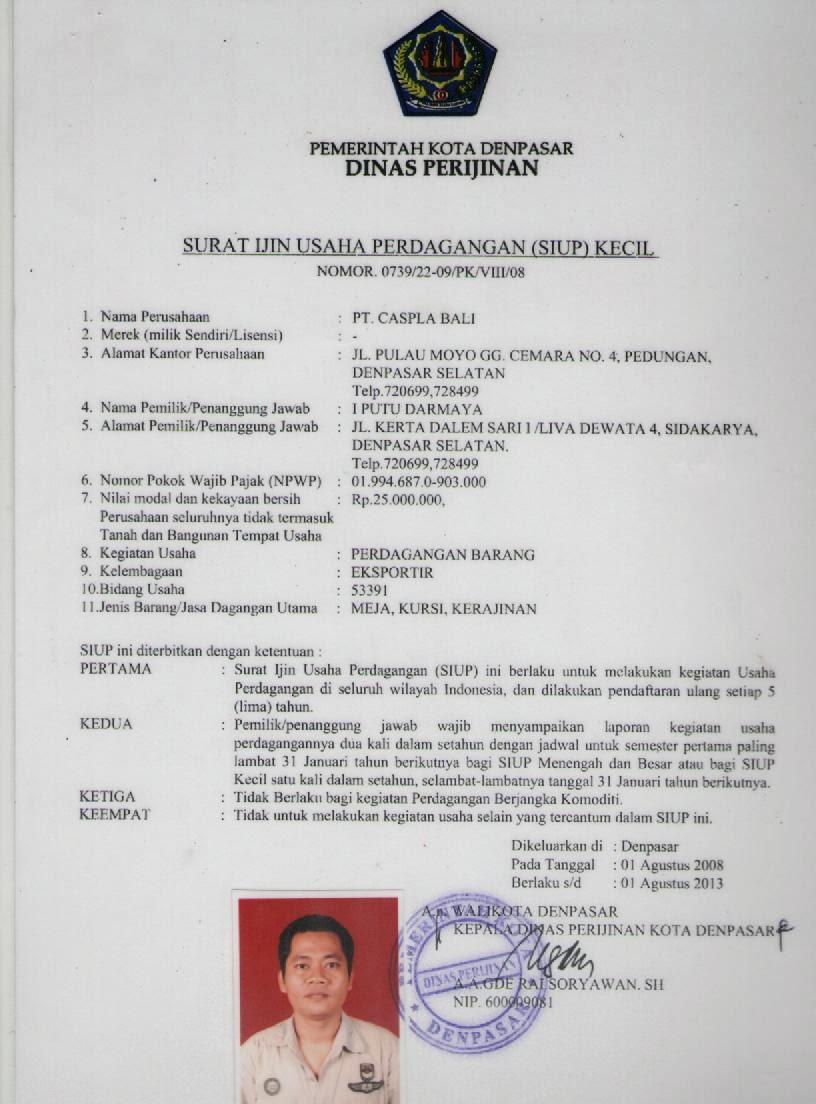 On Working Contoh Dokumen Siup Npwp Akta Notaris Dan