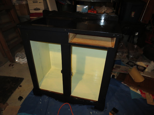 Mid process making a kitty litter cupboard