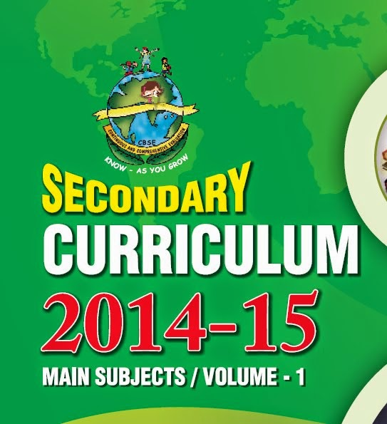 CBSE  Curriculum 2014-15