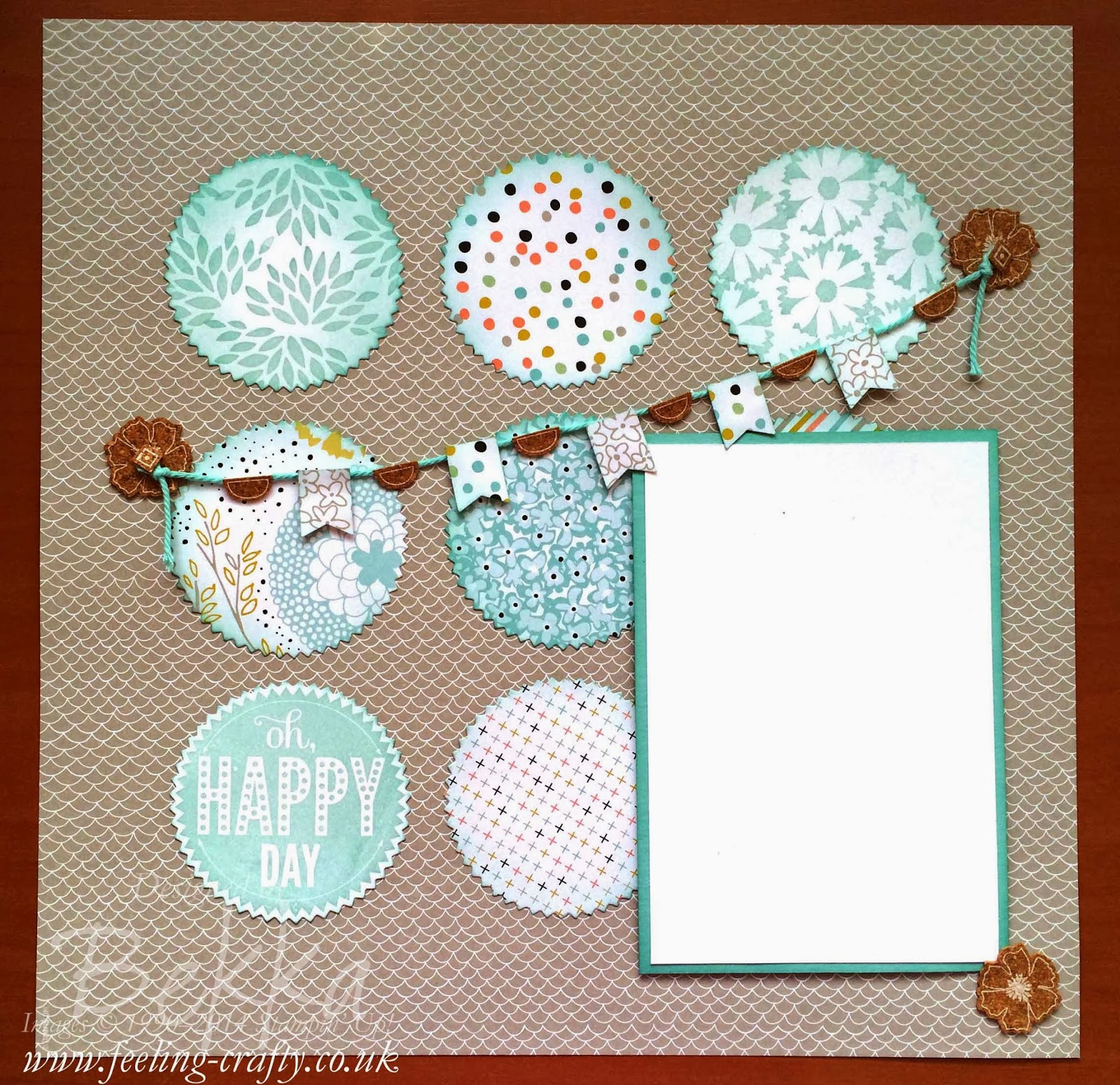 Sale-a-Bration Scrapbook Page featuring lots of the 2014 Free Sale-a-Bration Products along with Starburst Sayings - click here for more info