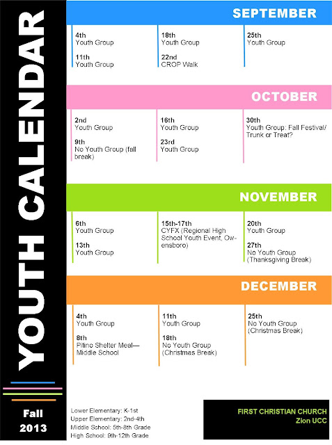 Youth Ministry Calendar Ideas : Activities calendar template search results