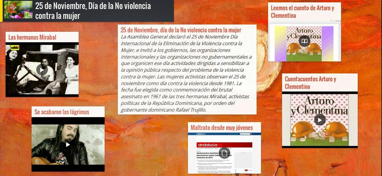 Muro Día de la no violencia contra la mujer