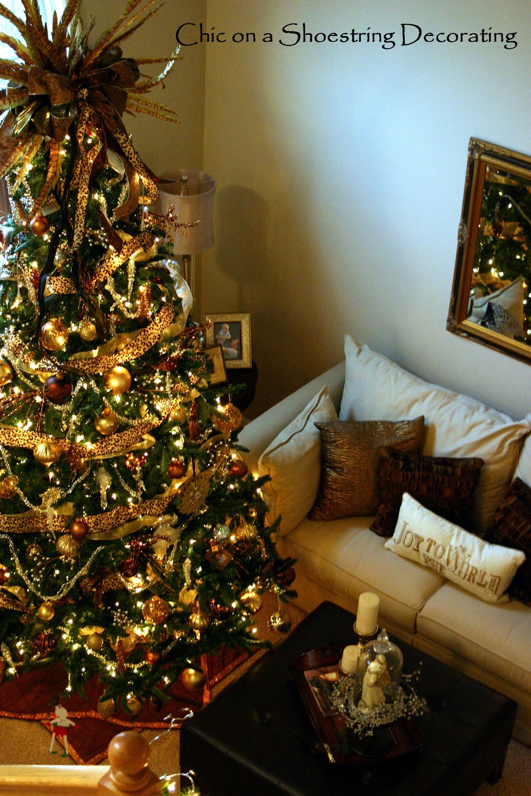 Christmas Tree Decorations Habitat : Chic on a shoestring decorating my fancy christmas tree