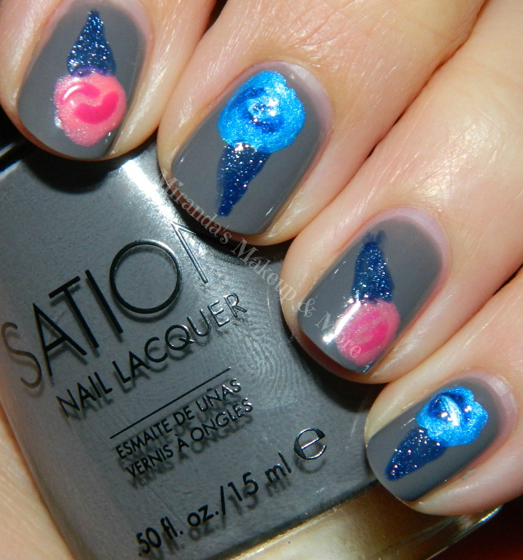 Sation Cotton Candy Nail Polish: Mirandas Makeup: Cotton Candy Nails{Great For Beginners