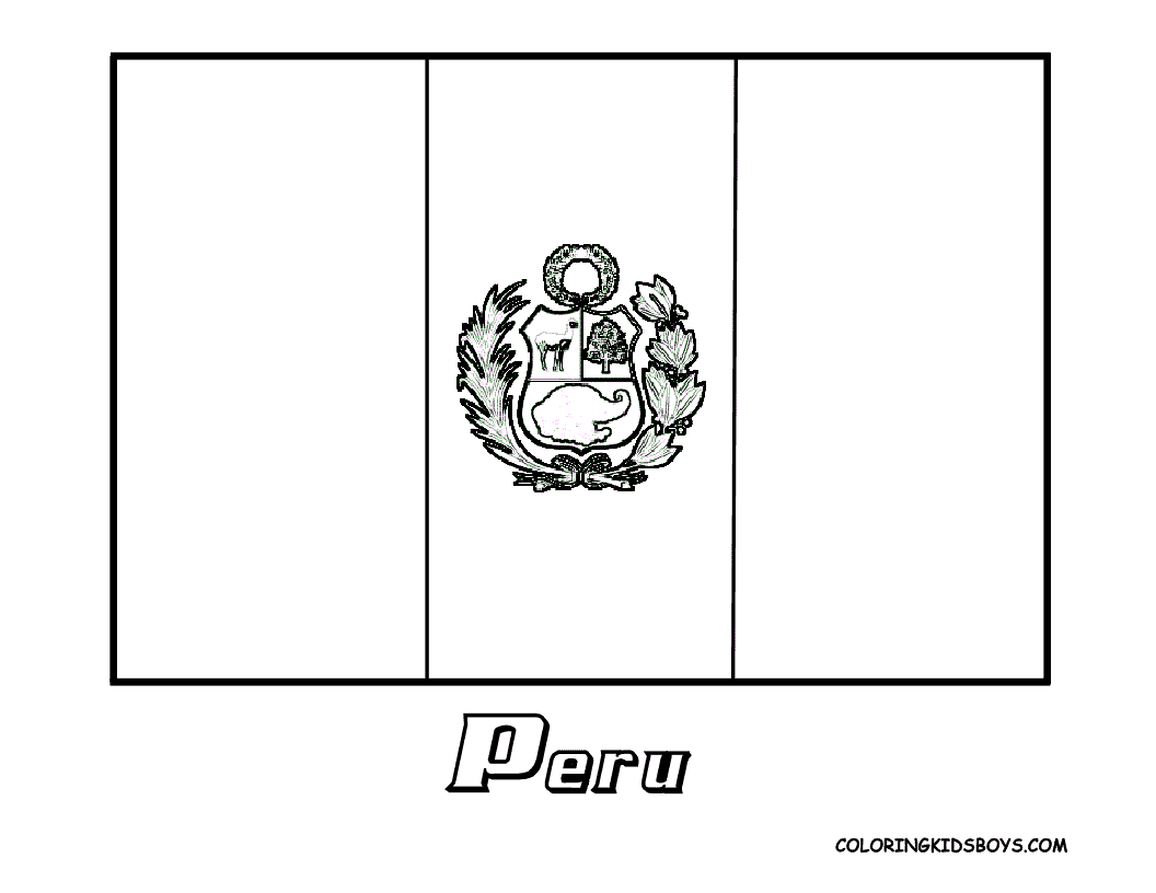 Free Coloring Pages Of Flag Of Peru Peru Flag Coloring Page