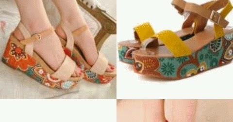 Gambar model sandal hak tinggi wanita terbaru untuk pesta ...
