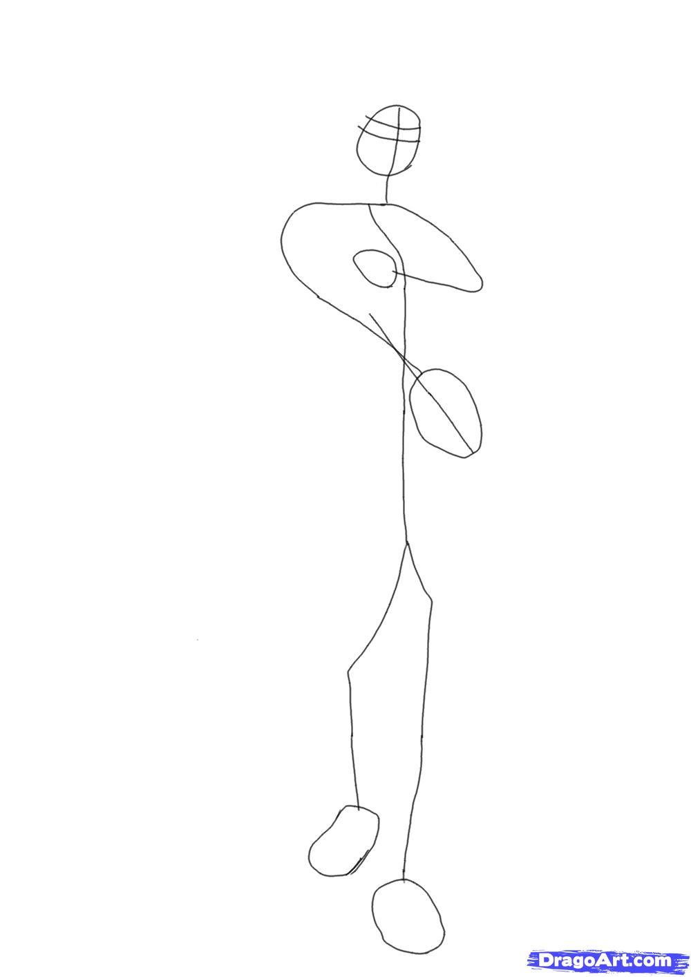 How To Draw Goku Step By Step Drawingnow Howtodrawsasuke