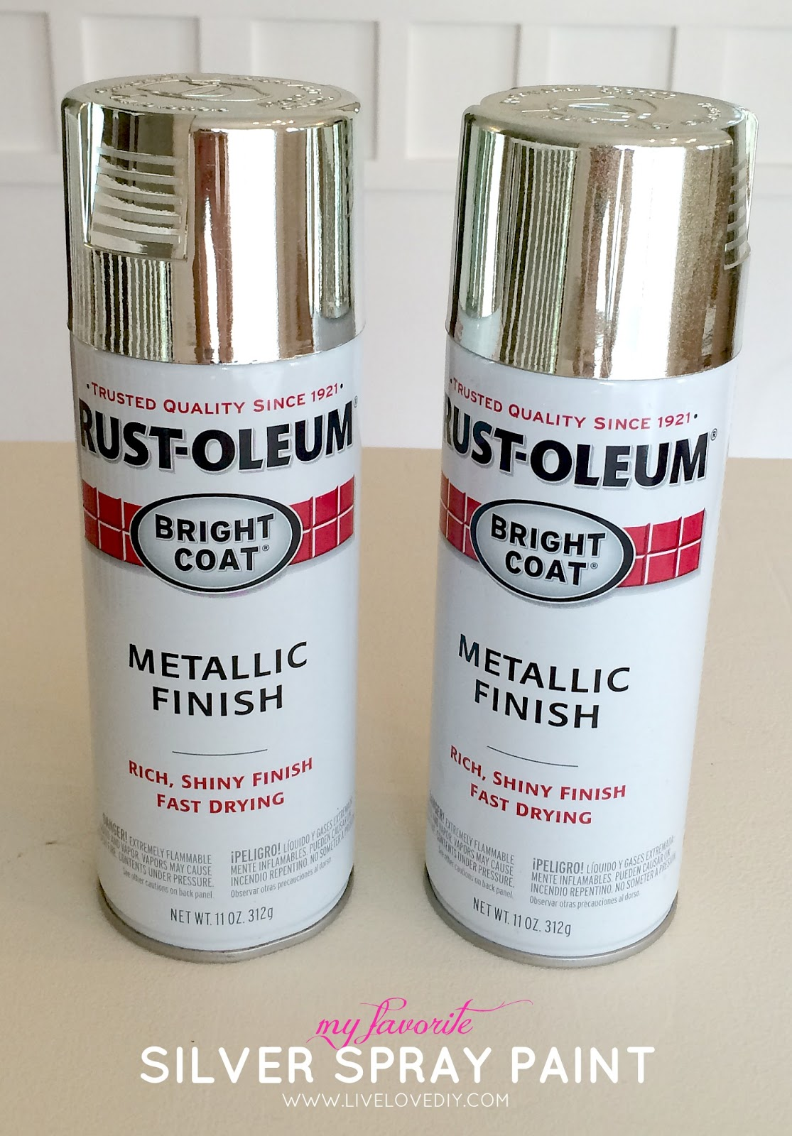 then i grabbed a few cans of rustoleum in bright coat silver because. Black Bedroom Furniture Sets. Home Design Ideas