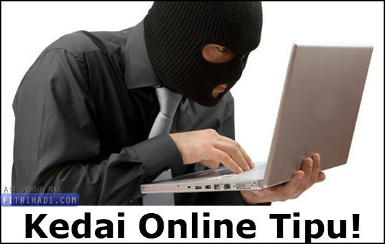 senarai kedai business online menipu