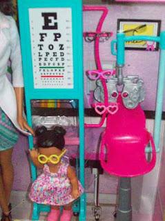 Barbie Eye Doctor Black version, little patient