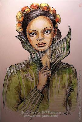 modelo africana, moda mujer de africa