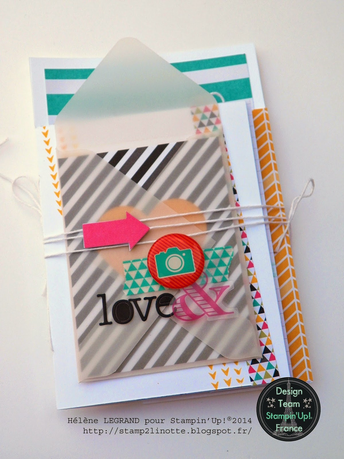 stamp 2 linotte  tuto   mini journal cards sur une page  2