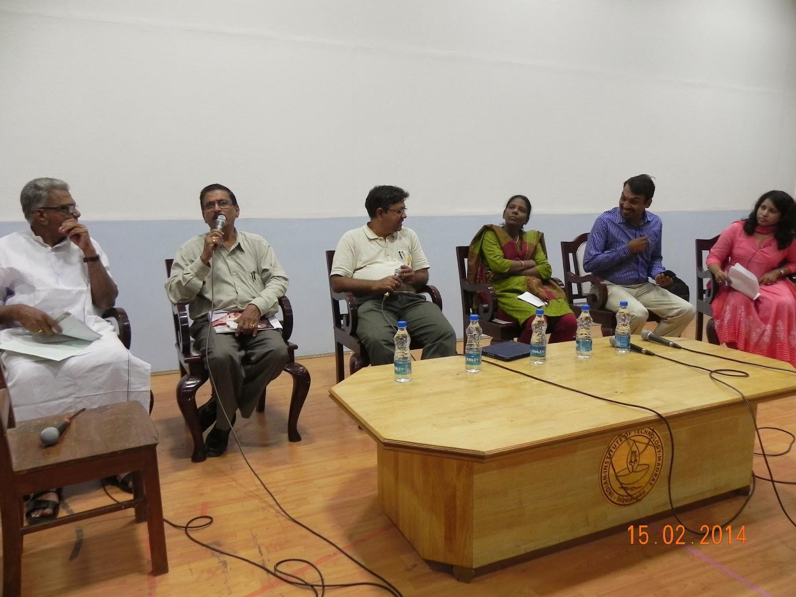 (L to R) Ramalingam, R Bhagwan Singh, Badri Seshadri, Josephine, Pandey and Bhanu Gomes
