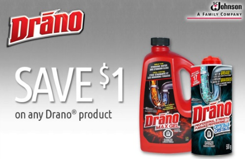 Drano Product Save.ca Coupon