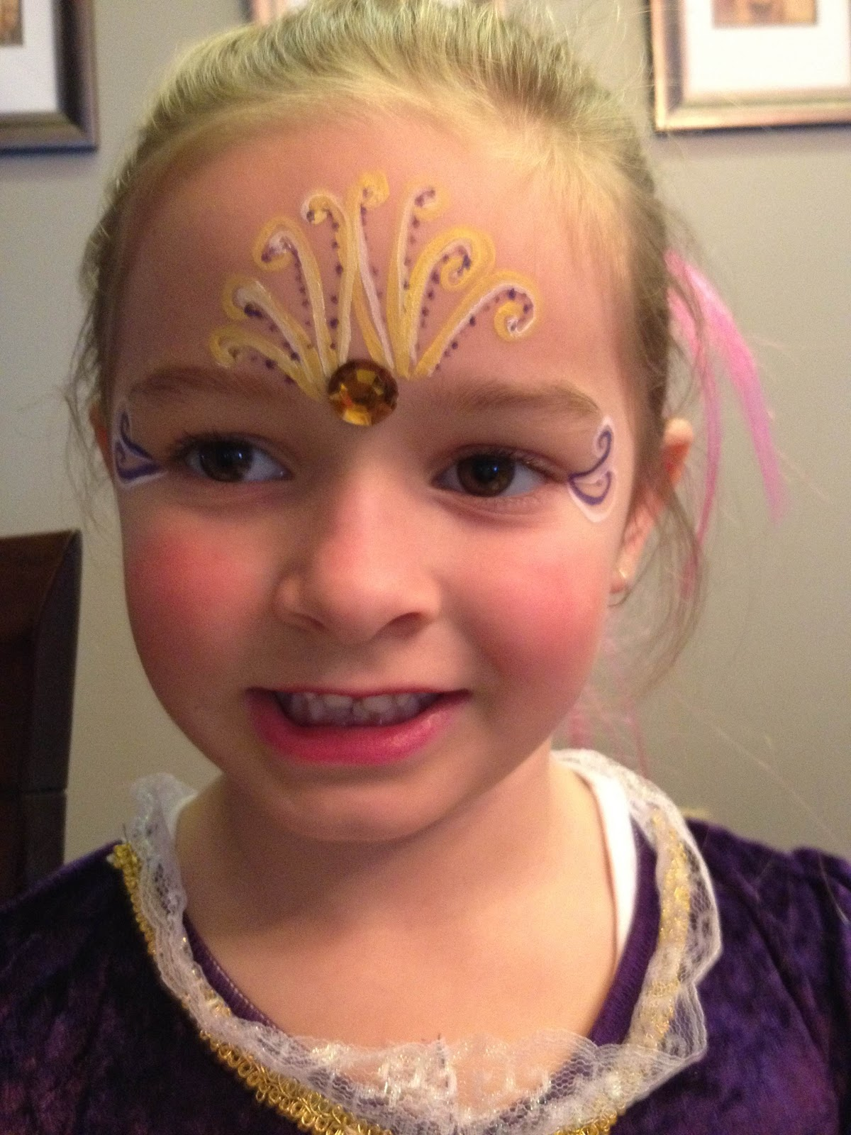 makeup art by simone face painting at a princess party