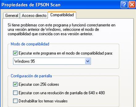 Propiedades Epson Scan
