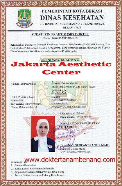 Dokter asli jakarta aesthetic center www.doktertanambenang.com