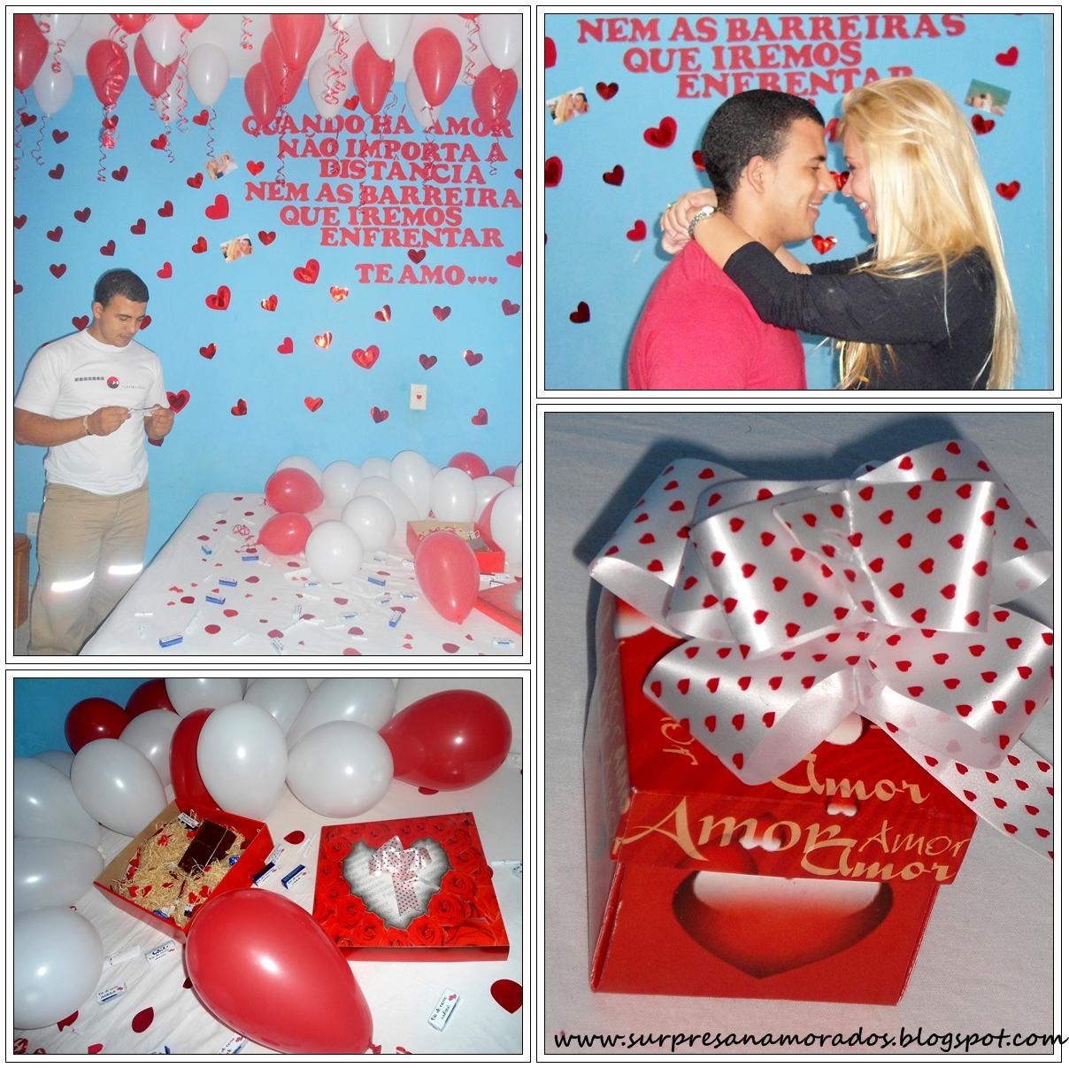 Surpresas e festas a dois Surpresas para Namorados ~ Surpresa Criativa No Quarto