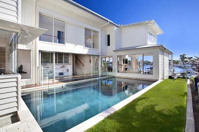 fachada de casa de playa