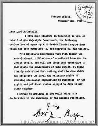 A declaração de Balfour e a traição ao árabes