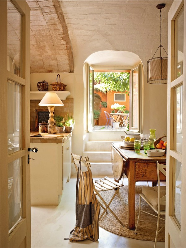 mesas perfectas para cocinas rústicas