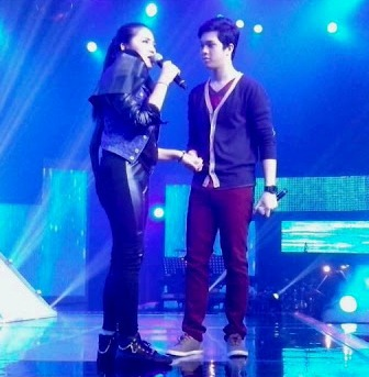 JuliElmo did a duet after the accidental fall on stage of Julie Ann San Jose (Party Pilipiinas, January 6)