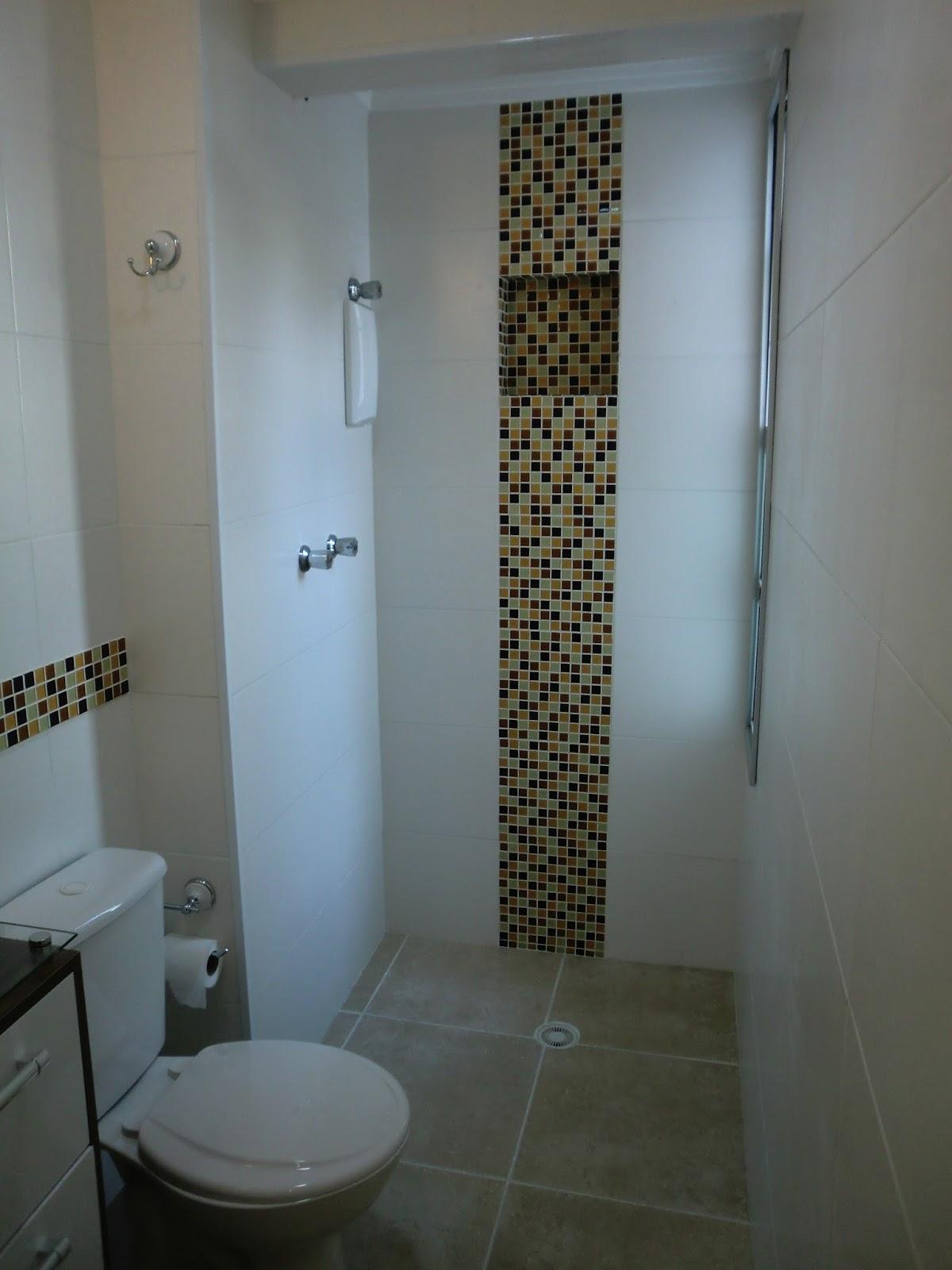 Reforma do Apartamento  Banheiro  Antes e Depois  Com Custos  Reforma Eco # Reforma Banheiro Pequeno Antes E Depois
