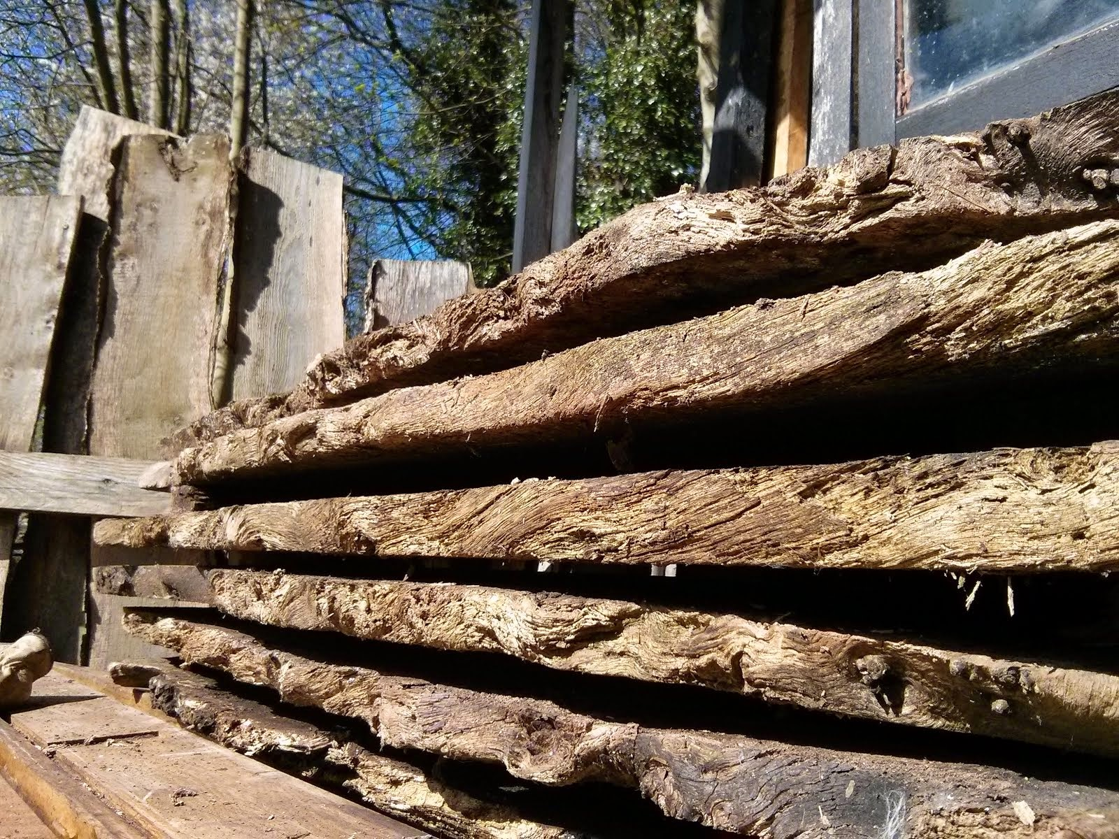 Hardwood posts, beams, etc. for sale