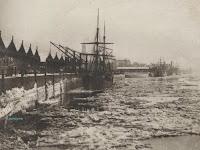 Schelde vol met drijfijs tijdens de winter 1890-1891