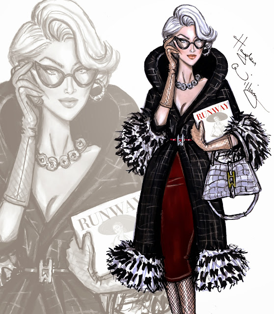 Hayden Williams Fashion Illustration of Miranda Priestly