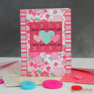 SRM Stickers Blog - Juliana Michaels - #Valentines #cards #mini #borders