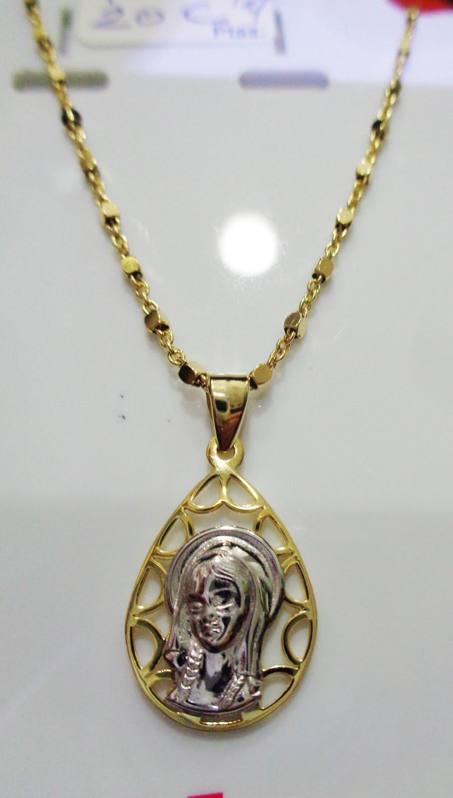 Cadena y medalla con la Virgen Niña