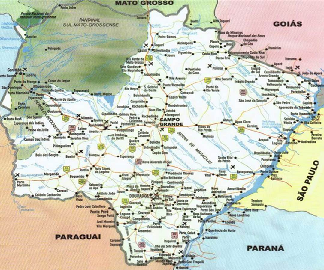 Mapa MS