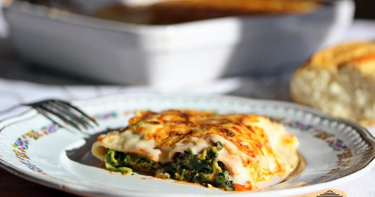 Las recetas de masero canelones de espinacas y beicon - Canelones en microondas ...