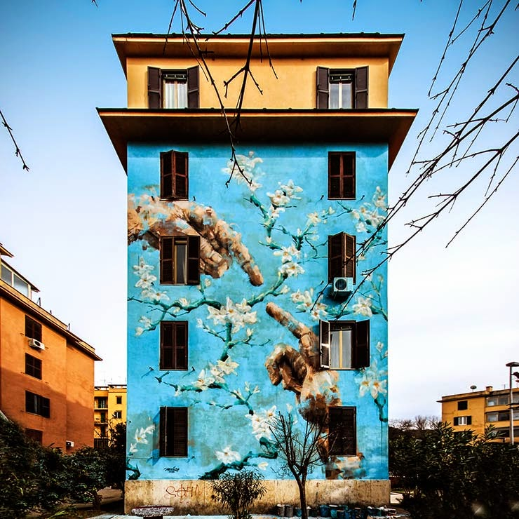 Jericho paints a new mural in rome italy for big city for Quartiere city life